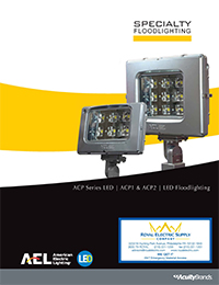 American Electric Lighting - ACP Series Specialty LED Floodlighting Brochure - Front Page Thumbnail