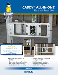 Erico-Caddy - All-In-One Electrical Assemblies - Front Page Thumbnail