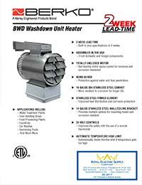 Berko Products - BWD Washdown Unit Heater