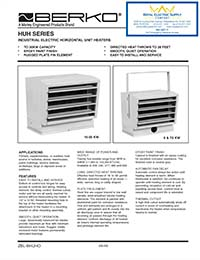 Berko Products – HUH Series Industrial Electric Horizontal Unit Heaters