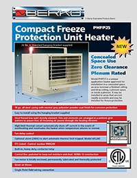 Berko Products - PHFP25 Compact Freeze Protection Unit Heater