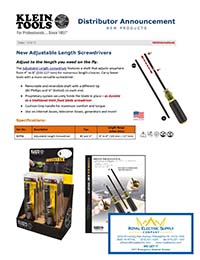 Klein Tools – Adjustable Length Screw Drivers