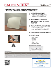 Fahrenheat – Portable Radiant Under-Desk Heater