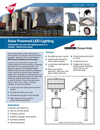 Cooper by Crouse Hinds – Solar Kit with LED