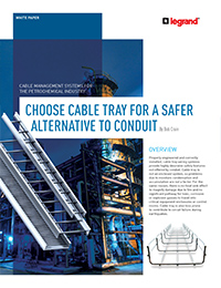 Cablofil by LeGrand – Choose Cable Tray for a Safer Alternative to Conduit (Whitepaper)
